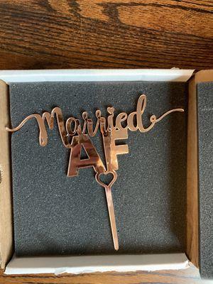 Wedding cake topper, mirrored rose gold for Sale in Arlington, VA