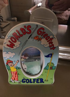 Worlds greatest golfer picture frame for Sale in Hialeah, FL