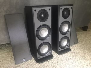 Yamaha Stereo Speakers + Subwoofer for Sale in Fresno, CA