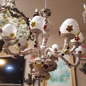 Capodimonte porcelain chandelier for Sale in Miami, FL