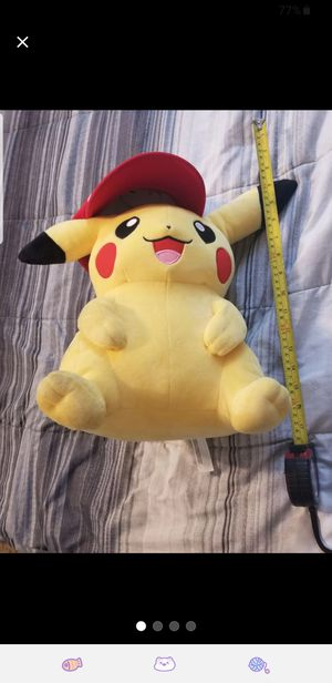 Rare pikachu in ash hat plushie pokemon for Sale in North Las Vegas, NV