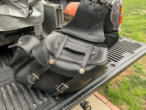 Harley Davidson Dyna leather saddle bags for Sale in Pomona, CA