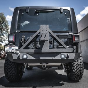 07-16 Jeep Wrangler JK Rock Crawler Rear Bumper W/2 LED Lights &Tire Carrier for Sale in Covina, CA
