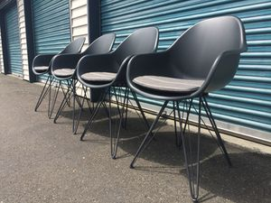4 - Kasala Molded Eiffel Chairs with Pads for Sale in Kirkland, WA