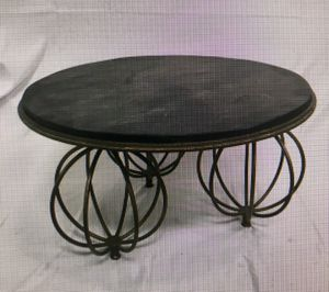 "Iron Coffee Table with Stone Top, 30"" for Sale in Henderson, NV"