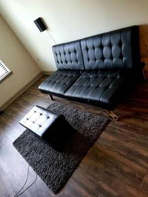 Futon, ottoman and rug for sale for Sale in Kennesaw, GA