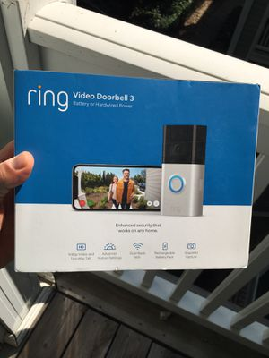 RING DOORBELL 3 1080p HD Wi-Fi Wired and Wireless Video Doorbell 3. Smart Home Camera Removable Battery Works with Alexa BRAND NEW NEVER OPENED!!!! for Sale in Atlanta, GA