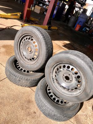 4x100mm Steel Rims/Tires for Sale in Channahon, IL