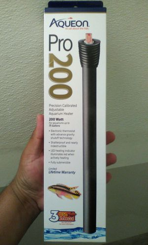 Brand new pro 200 precision calibrated adjustable 200 watts for aquarium heater for Sale in Riverside, CA