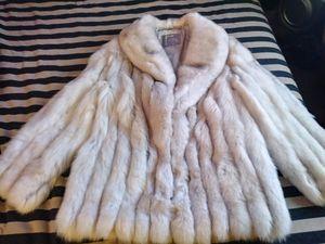 SAGA FOX Fur coat $450 obo also Split end ltd rabbit fur coat $150 obo or both coats for $550 Or trade for car or truck of equal value.. for Sale in Hampton, VA