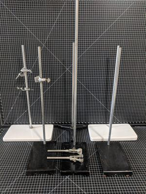 Laboratory distillation lab glass stands clamps Fisher scientific Bunsen pyrex for Sale for sale  Tacoma, WA