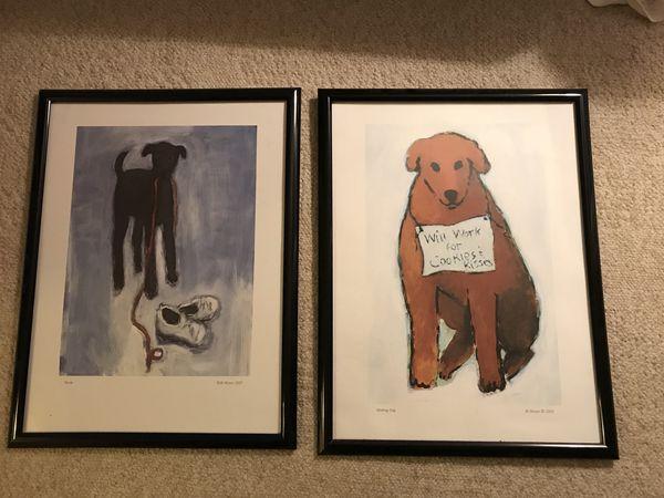 Framed dog posters