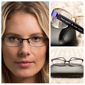 Kate Spade Ambrosette glasses paid $165 Satin Navy Dots. Metal Full Rim frame for Women. This Medium size frame features an Oval shape. Great conditi for Sale in DC, US