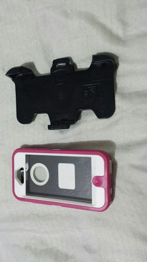 Iphone 5 otterbox defender - pink/white practically new for Sale in Mesa, AZ
