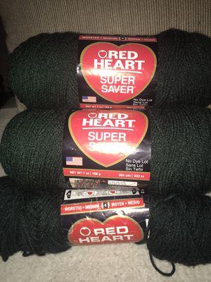 Dark green yarn lot of 5 for Sale in Covina, CA
