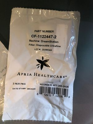 Apria health disposable ultrafine filter for dream station CPAP machine for Sale in Huntingdon Valley, PA