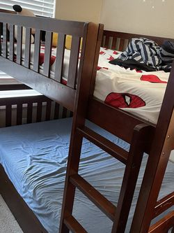 Trundle Bunk Bed With Mattress for Sale in Belmont,  CA
