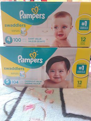 PAMPER SWADDLERS SIZE 5 DE 104 PAMPER A $30 for Sale in Santa Ana, CA