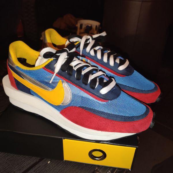 Nike x Sacai LD Waffle Red/Blue - Size 10