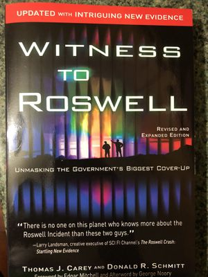 Witness to Roswell: Unmasking the Government's Biggest Cover-up (Revised and Expanded Edition) for Sale for sale  Boston, MA