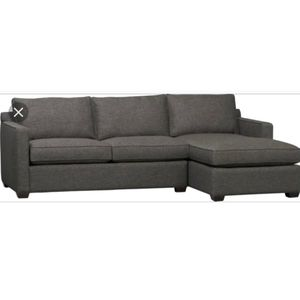 Crate and Barrel grey sectional for Sale in New York, NY