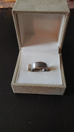New Titanium ring with brush center and double stepped edge (men's wedding band) for Sale in Gahanna, OH