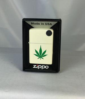 Zippo Weed Leaf Lighter, Cream Matte #216-CI406218 for Sale in Lutz, FL