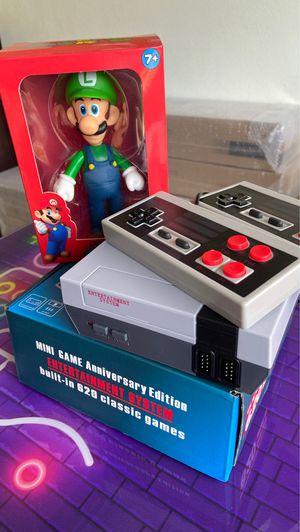 Arcade Games Retro console with the Most Popular Retro Games Mini Nintendo Built in 620 games + LUGUI FIGURE for Sale in Hallandale Beach, FL