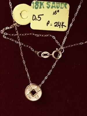 24K Lucky Chinese Coin + 18K Chain for Sale in Greenville, SC