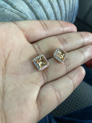 White gold / rose gold diamond earrings for Sale in Columbus, OH