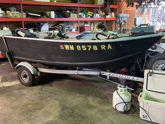 14' Aluminum Alaskan LineX'd Custom Boat W/Trailer for Sale in Puyallup,  WA