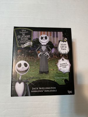 The Nightmare Before Christmas Jack Skellington Airblown Inflatable 25 Year Anniversary for Sale in Peabody, MA