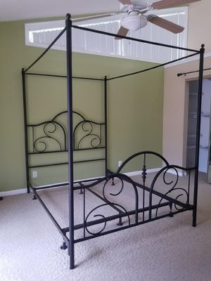 QUEEN Metal Canopy Bed - optional Box Spring available for Sale in Jupiter, FL
