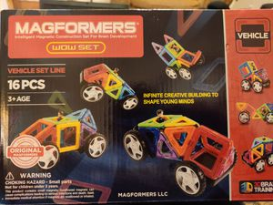 Magformers 16pc vehicle set for Sale in Marshalltown, IA
