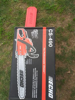 Echo chainsaw cs490 20 inch for Sale in Phoenix, AZ