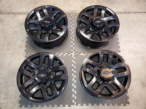 18 INCH FACTORY CHEVY CHEVROLET GMC WHEELS RIMS 8 LUG HD 2500 3500 for Sale in Moreno Valley, CA