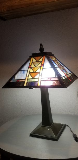 Stained Glass Metal Lamp for Sale in Riverside, CA