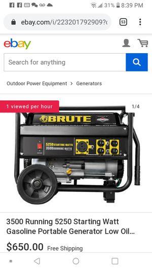 Brute generator 5250-3500 for Sale in Kansas City, MO