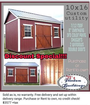 Custom 10x16 stylish shed for Sale in Manor, TX