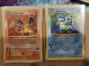 Charizard Blastoise Shadowless Holo Foil Holographic Rare Pokemon Card TCG Base Set Unlimited Edition for Sale in Anaheim, CA