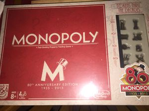 80th Anniversary Monopoly board game for Sale in South San Francisco, CA