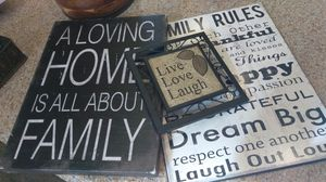 Family Inspirational Pictures Home Decor for Sale in Orlando, FL