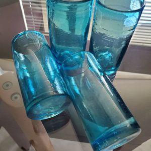 4 Hand Blown Glasses for Sale in West Palm Beach, FL