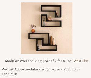West elm floating shelves white shelf shelve minimal for Sale in Vernon, CA