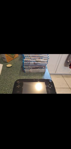 Nintendo Wii U system with 13 games, extra controllers and extras. for Sale in Miramar, FL