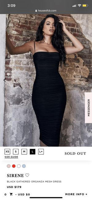 Black Midi Dress- House of CB size L (women's 8-10) for Sale in Chicago, IL