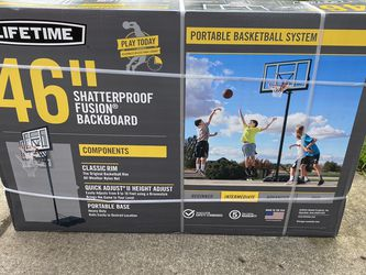 """New Lifetime Shatterproof Fusion 46"""" Basketball Hoop for Sale in Vancouver,  WA"""