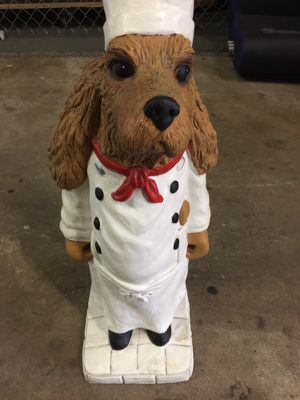 Chef Dog Statue 2Ft Collectible Vintage for Sale in Tampa, FL