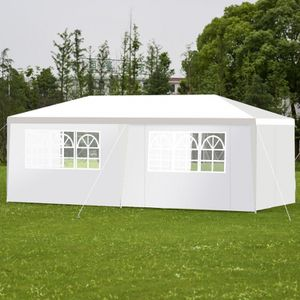 10'x20' White Gazebo Fully Enclosed 6 Walls Zippered Doors Wedding Party Tent Shelter Canopy for Sale in Sacramento, CA