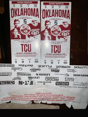 Ou vs tcu tickets GREAT SEATS for Sale in Broken Arrow, OK